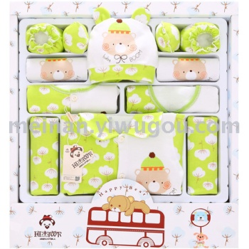 Cotton baby gift box newborn gift box newborn full moon baby clothes suit maternal and child supplies