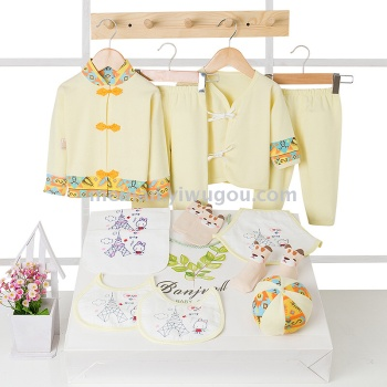 Cotton baby clothes summer gift set 0-3-6 months baby supplies