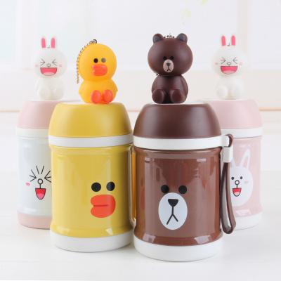 Cartoon animal stew porridge egg noodles artifact porridge insulation cup braised beaker braised pot pot pot lunch box