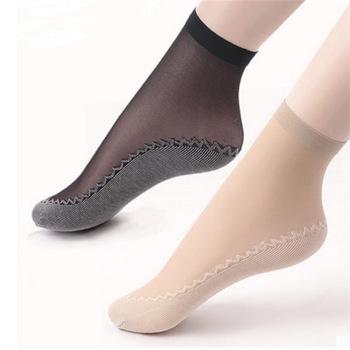 Velvet short stockings core silk silk cotton short stockings non - slip in the tube socks massage socks wholesale