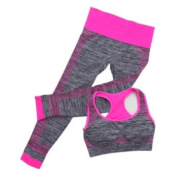 Summer new yoga clothes sportswear two-piece suit (bra vest +7 pants)