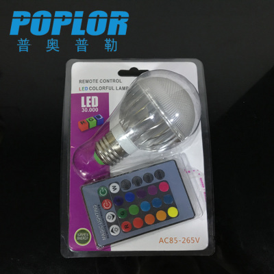5W / Blister packaging /RGB colorful LED bulb  / intelligent lamp /  remote control bulb / aluminum