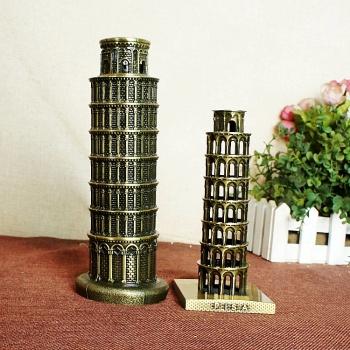 World landmark building model Pisa Leaning tower model Zinc alloy crafts Decoration