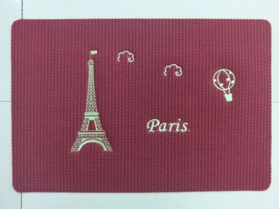 Honeycomb structure Door with Mat Paris Eiffel Tower pattern