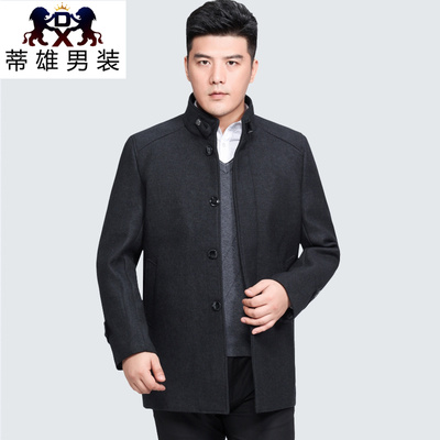 Tichon in autumn and winter plus velvet collar long cashmere coat men trench coat woolen overcoat