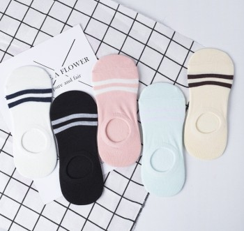 Female socks thin section of shallow mouth socks invisible boat socks casual breathable socks striped cotton socks