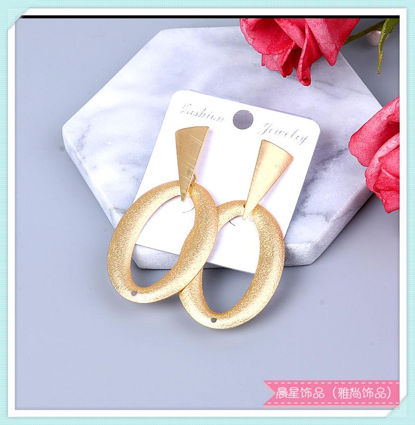 欧美时尚夸张设计款 金属手工耳环耳坠耳饰