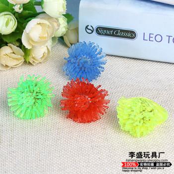 Flashing light children's toys safety ring hair ball ring