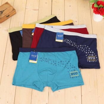 Men's underwear briefs pants four-legged trousers summer flat underwear men's four corners underwear youth boys trousers