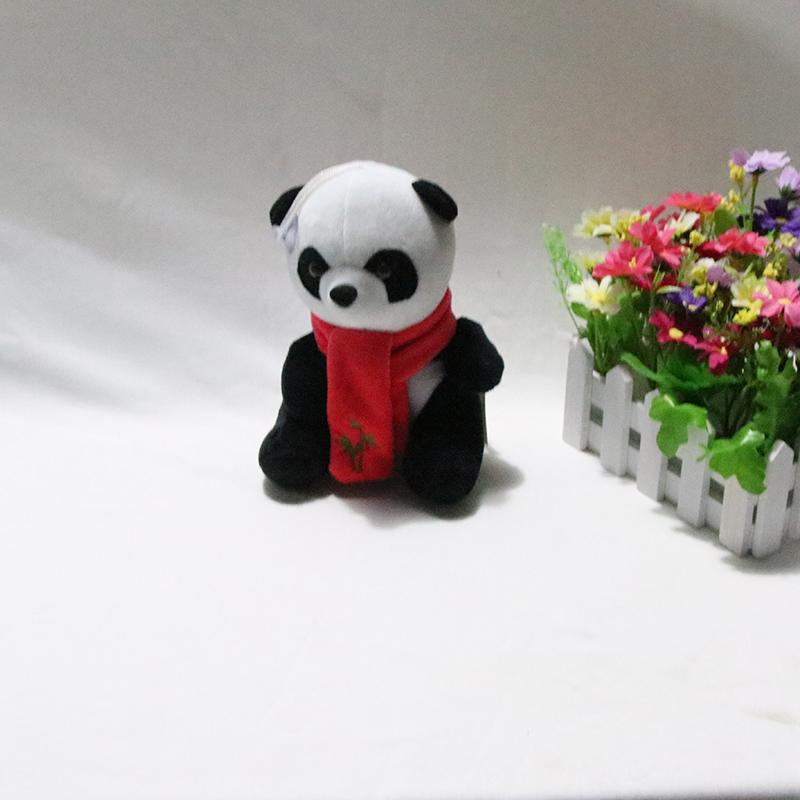 可爱国宝级宝宝围巾熊猫毛绒玩具公仔厂家批发销售