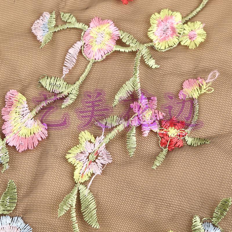 满幅花纹图案唯美刺绣花边 服装diy饰品沙发辅料
