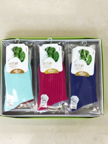 King bone suture-free comfort of knitted cotton candy color female seven-color socks 12 pairs 059