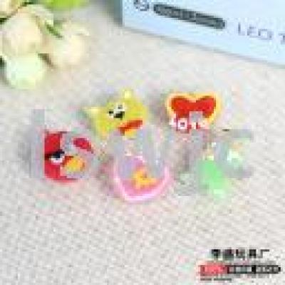 Luminous brooch electronic led flash badge cartoon pin luminous toys creative gifts