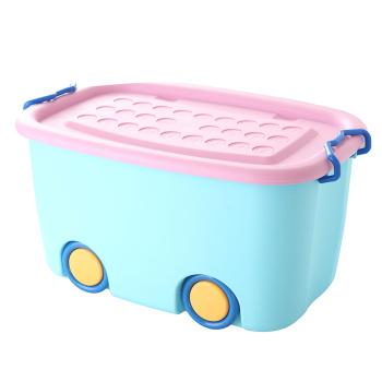 Medium cartoon toy storage box plastic finishing box storage pulley box