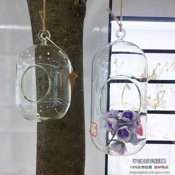 Creative simulation meaty pot hanging glass vases home decoration ornaments glass bottle