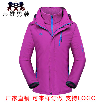 Tizi outdoor clothing men and women triple play jacket coat thicker mountaineering clothes