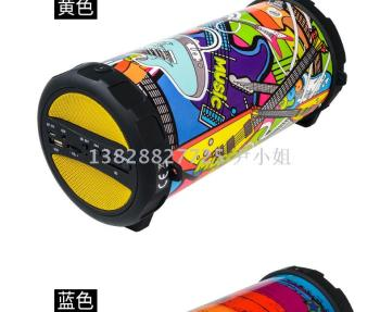 Manufacturers supply new outdoor subwoofer card wireless portable high-power Bluetooth speaker ring