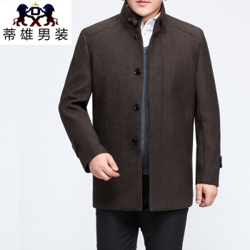 Tixiong men's autumn and winter new long-term men's woolen jacket