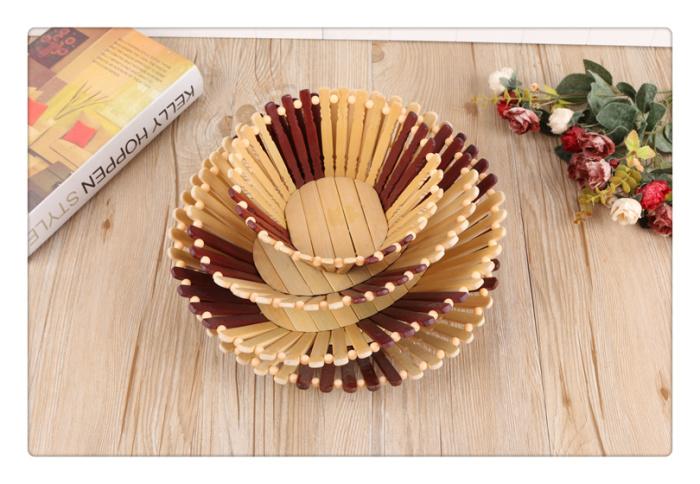 Supply Fine Wooden Living Room Fruit Fruit Basket Creative