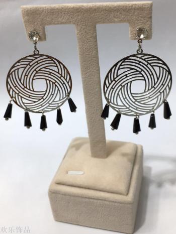 Korean earrings, iron earrings, copper earrings, computer earrings, jewelry