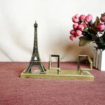 Metal Crafts Home Decoration Tower Business Card Holder