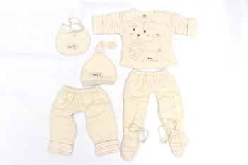 Five sets of baby clothes
