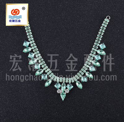 Clothing Welded Water Drop Necklace Sweater Chain Acrylic Drill Glass Drill Copper Chain