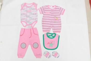 Eight sets of baby clothes