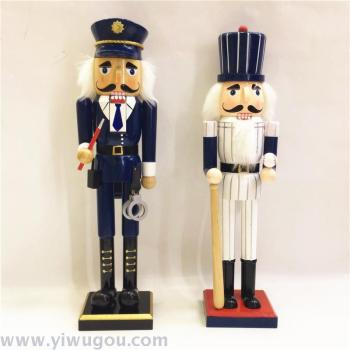 New 38CM Crafts Decoration Wooden Nutcracker Soldiers Puppets Folk Crafts Home Furnishings