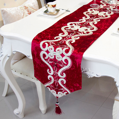 European-style desk flag fashionable and simple modern tea table cloth towel can be customized.