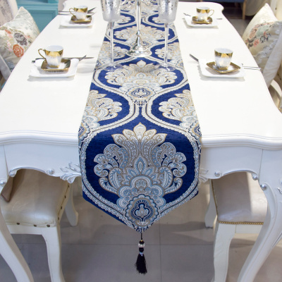 European-style desk flag simple modern tea table decorative cloth bed flag bed tail towel can be customized.