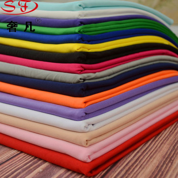 Dairy silk knitted spandex four - sided stretch solid color ice silk fabric Han cloth stretch fabric