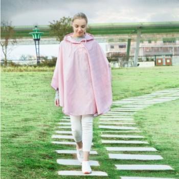 Korean version of the waterproof pants cap cap cape girl outdoor walk electric car bike ride student adult raincoat