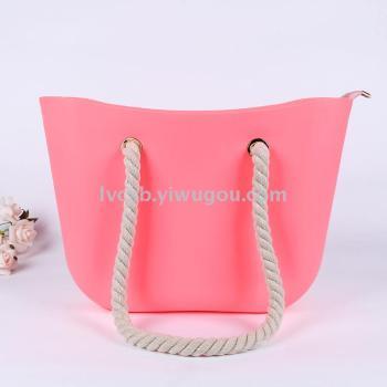 Fashion silicone jelly beach bag