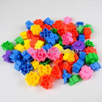 Direct factory price of early education parent-child educational toys plastic snowflakes plug snowflakes