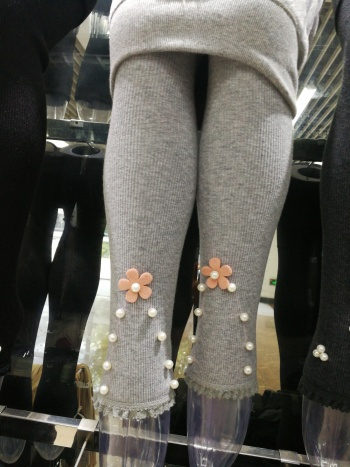 Girls Korean section of autumn and winter thicker beads beads one leggings