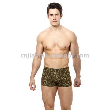 [Health blue] men sticky fiber printed flat feet underwear 8397 (a box of two)