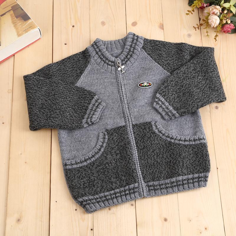纯手工编织儿童毛衣休闲时尚套头衫可爱卡通长颈鹿