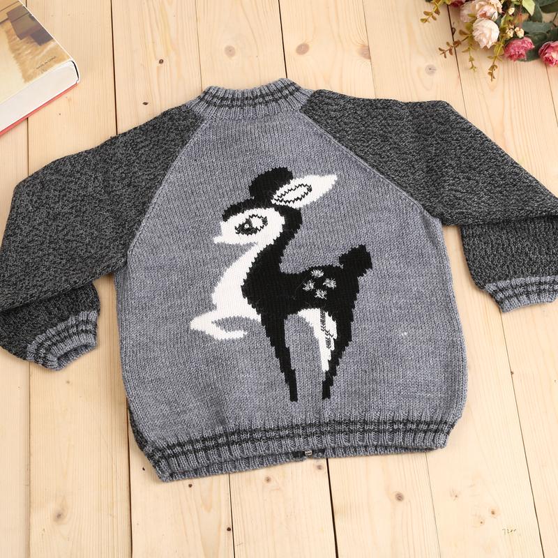 纯手工编织儿童毛衣休闲时尚套头衫可爱卡通长颈鹿_李