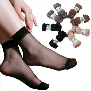 福卓鳥春夏女式短絲襪 絲滑透明水晶隱形襪子地攤貨源