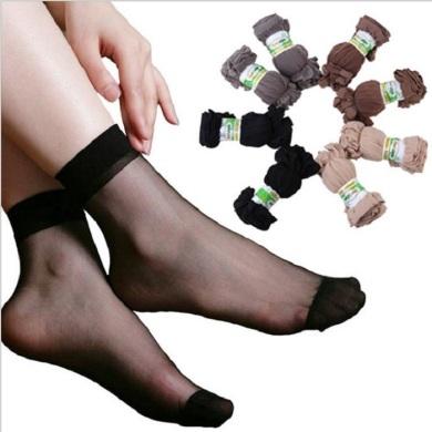 福卓鸟春夏女式短丝袜 丝滑透明水晶隐形袜子地摊货源