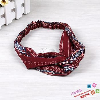 Famous style hair with wild simple cross hair band hoop scarf hair accessories