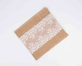 Jute cloth ribs linen table flag chairs yarn Christmas crafts wedding home decoration supplies