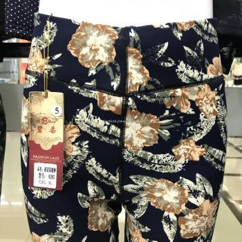 2017 new milk silk double grinding printing leggings ladies high waist warm pants mother pants