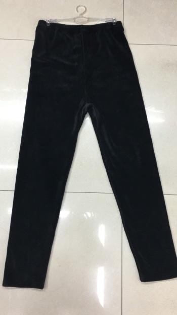 Silver fox hair flat double-sided warm single pants Qiuku warm pants