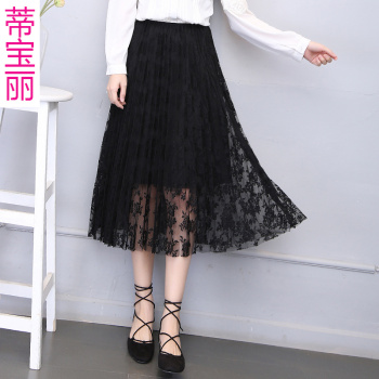 Di Baoli new women's waist lace dress skirt mother dress