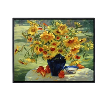 Jane European Restaurant Hanging Painting Sunflower Decorative Paintings Table of Modern Wall Paintings