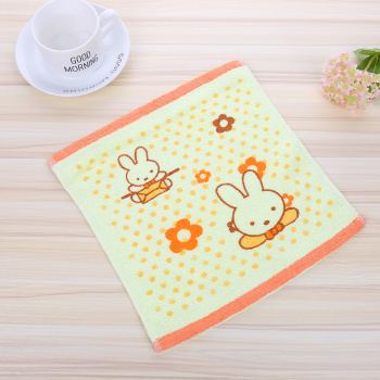 2 yuan shop supply cotton gauze printed small square newborn baby square square towel towel