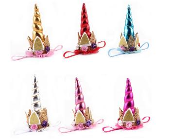INS unicorn party hot style hair band baby hair accessories