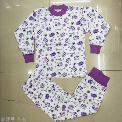 BOR spring children's clothing for fall/winter scene boys and girls cotton underwear children's thermal underwear